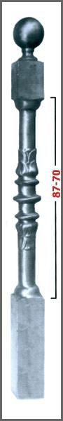 MEDIDAS: 1200 - Diámetro 100 x 100 - Para balaustre 70 - 87