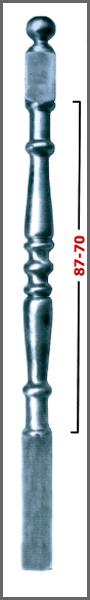 MEDIDAS: 1200 - Diámetro 70 x 70 - Para balaustre 50 - 70 - 87